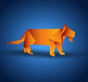 Origami Paper Tiger